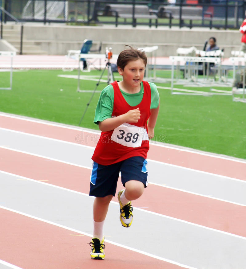 Мальчик на конкуренции стоковая фотография