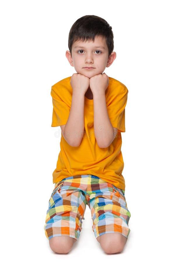 мальчик немногая осадил стоковая фотография rf