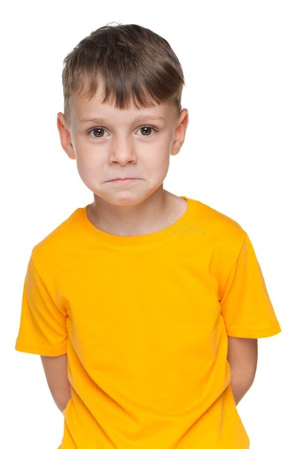 мальчик немногая осадил стоковое изображение