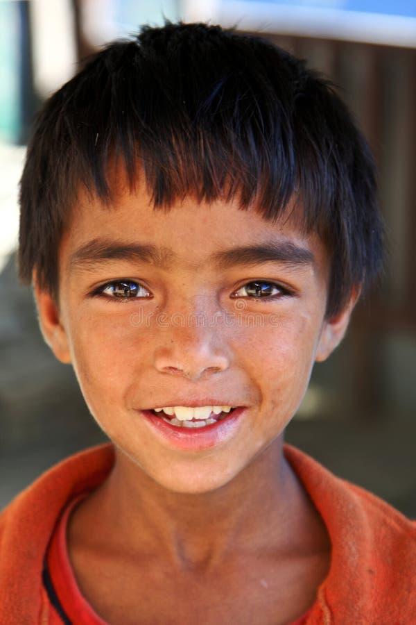 Мальчик Непала стоковые фотографии rf