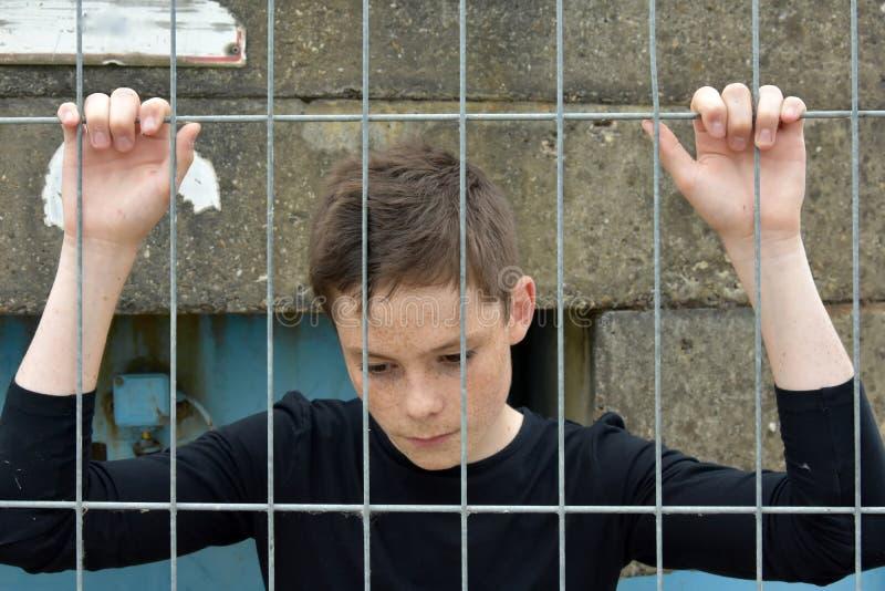 мальчик отчаянный стоковая фотография rf