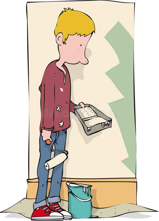 Мальчик оформителя иллюстрация штока