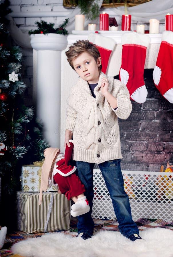 Мальчик рождества и Нового Года стоковая фотография