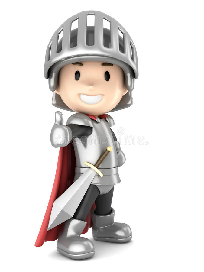 Мальчик рыцаря иллюстрация штока