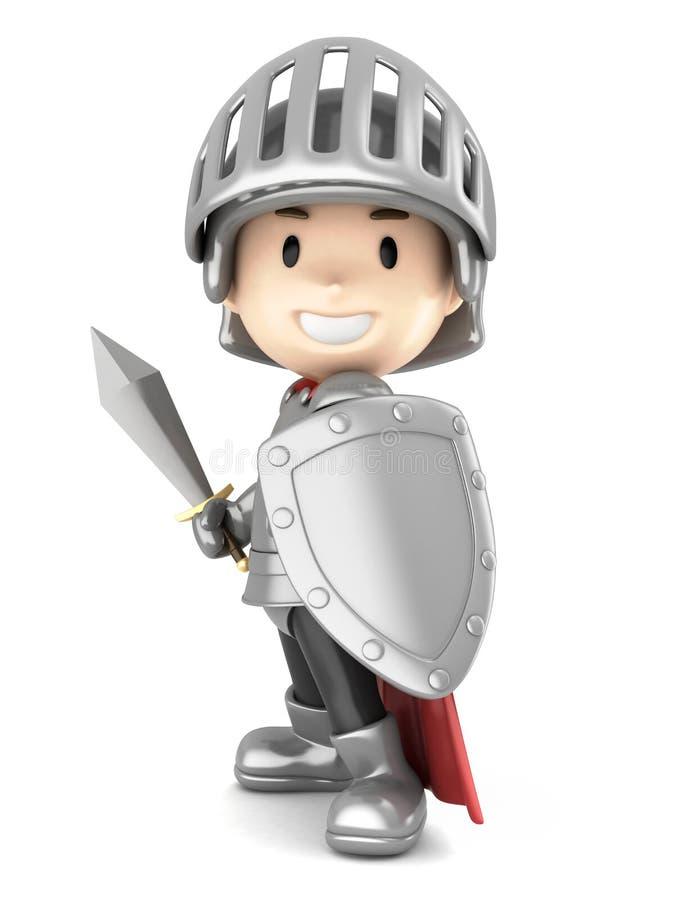 Мальчик рыцаря иллюстрация вектора