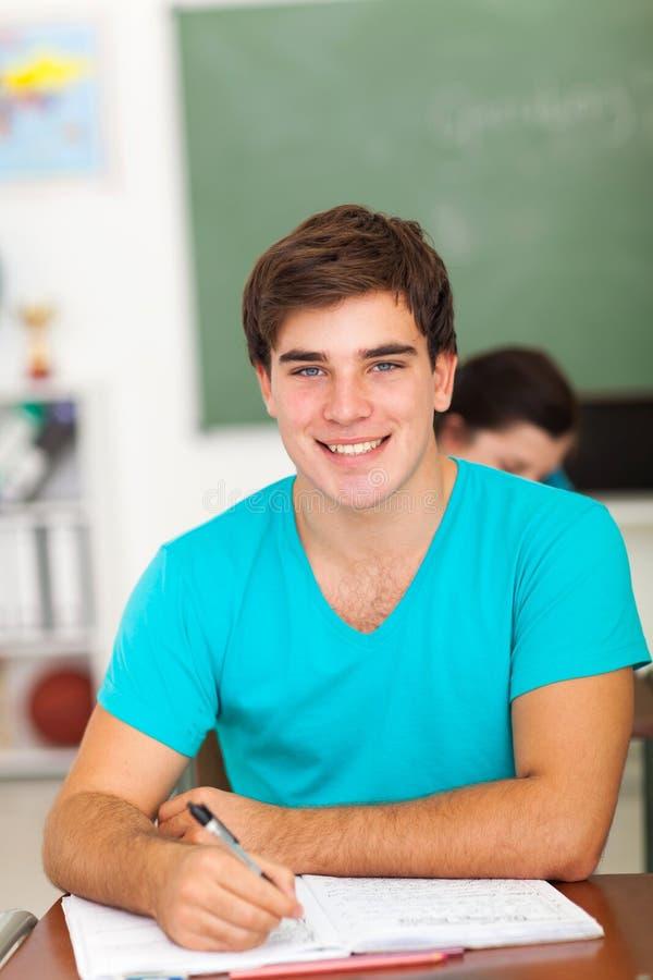 мальчик средней школы стоковая фотография rf