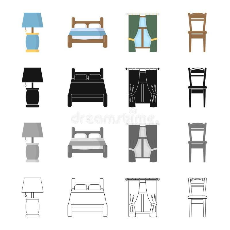 мебель связала комплект значка бесплатная иллюстрация