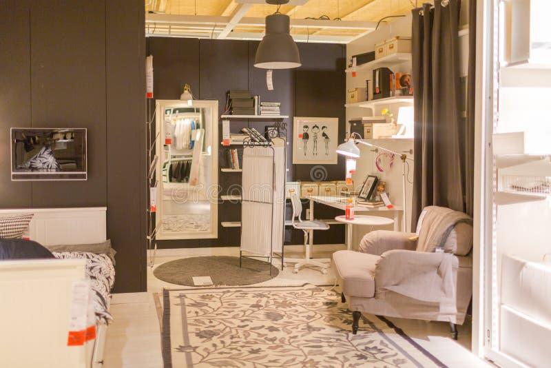 Меблировкы живущей комнаты стоковая фотография