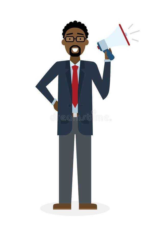 мегафон бизнесмена бесплатная иллюстрация