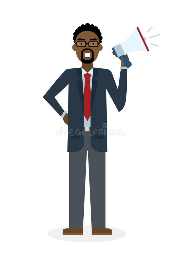 мегафон бизнесмена иллюстрация штока