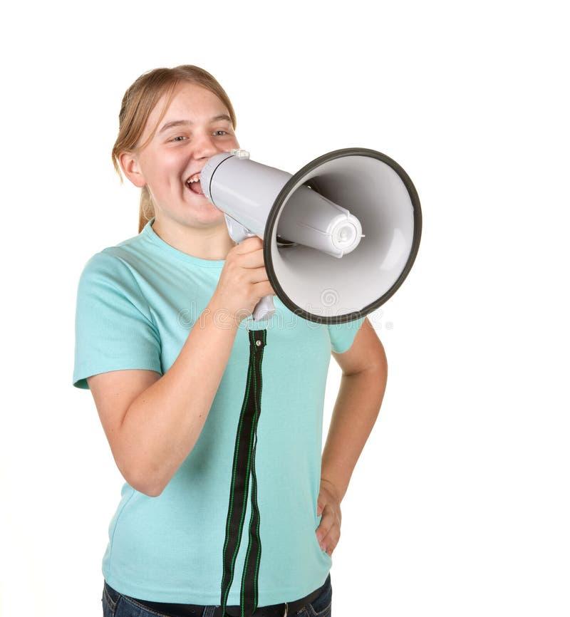 мегафон девушки подростковый стоковые изображения