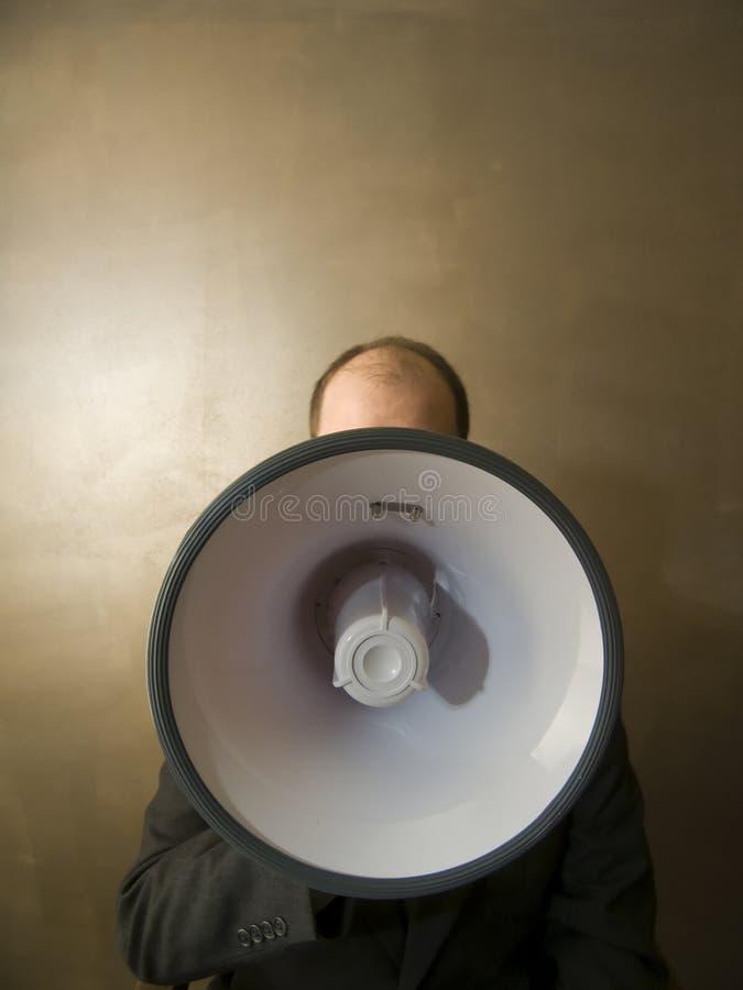 мегафон дела стоковая фотография