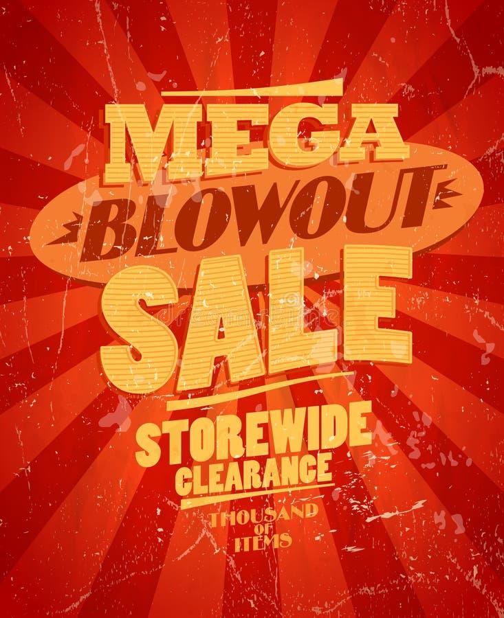 Мега продажа обдува, дизайн зазора storewide. иллюстрация вектора