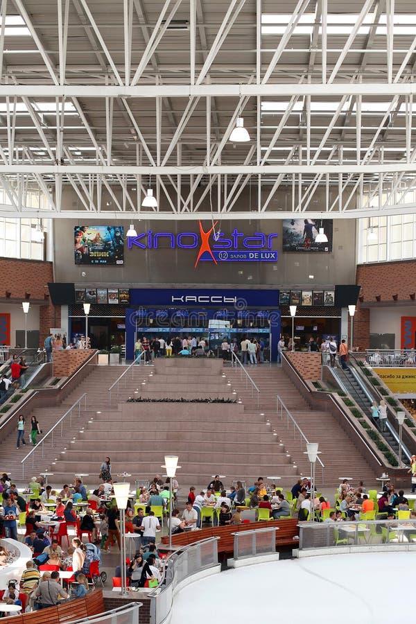 МЕГА торговый центр в городе Khimki, область Москвы стоковые изображения