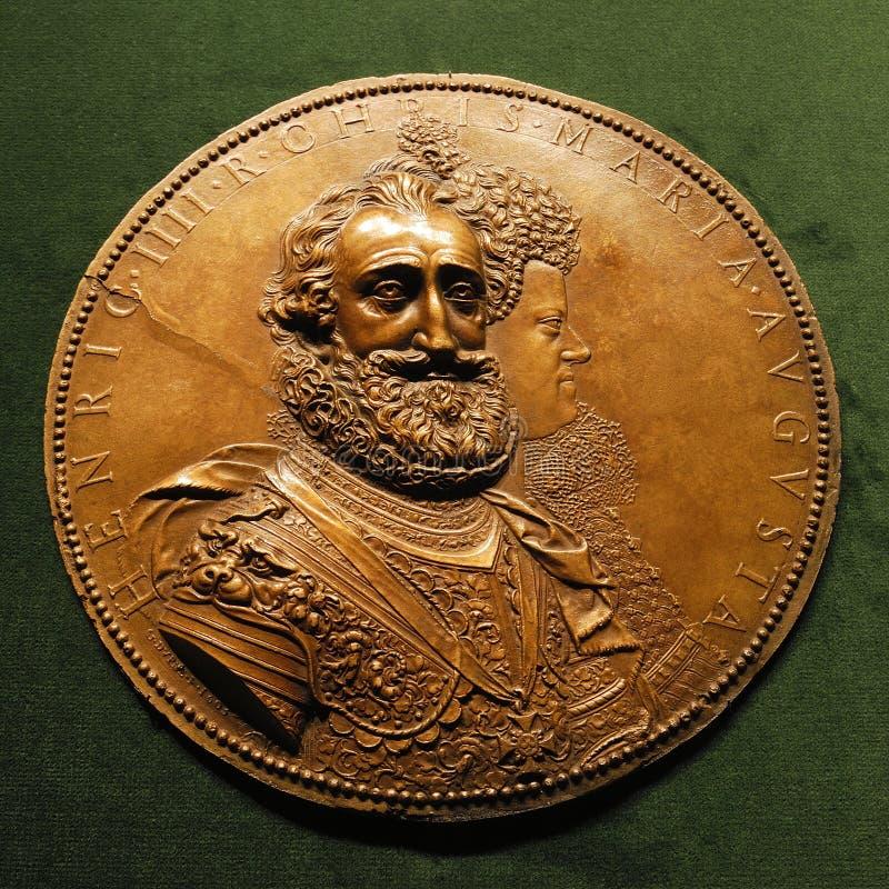 Медальон Henri IV le Грандиозн с Мари de Medici стоковая фотография