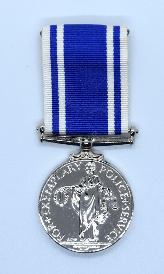 Медаль обслуживания полиции длинное стоковые фото