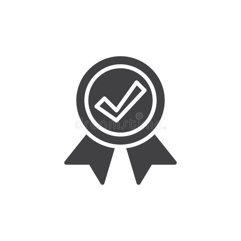 Медаль с вектором значка контрольной пометки бесплатная иллюстрация