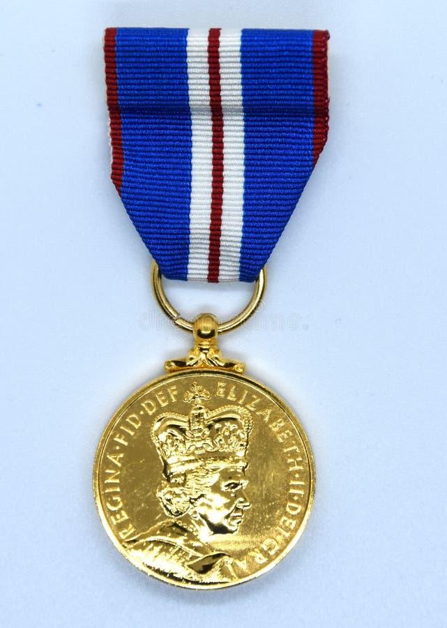 Медаль юбилея полиции золотое стоковое фото rf