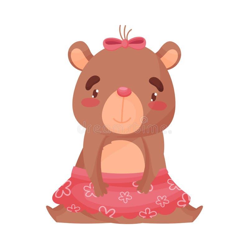 Медведь девушки сидит r бесплатная иллюстрация