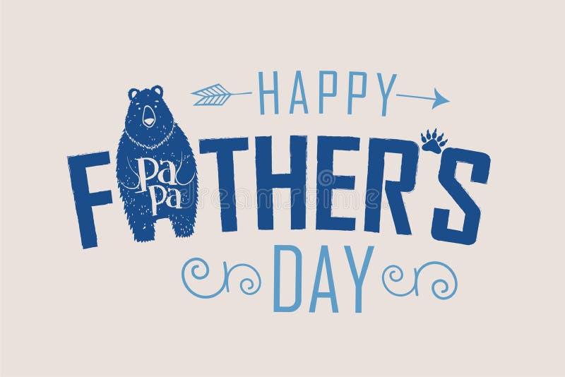 Медведь папы дня отцов иллюстрация штока