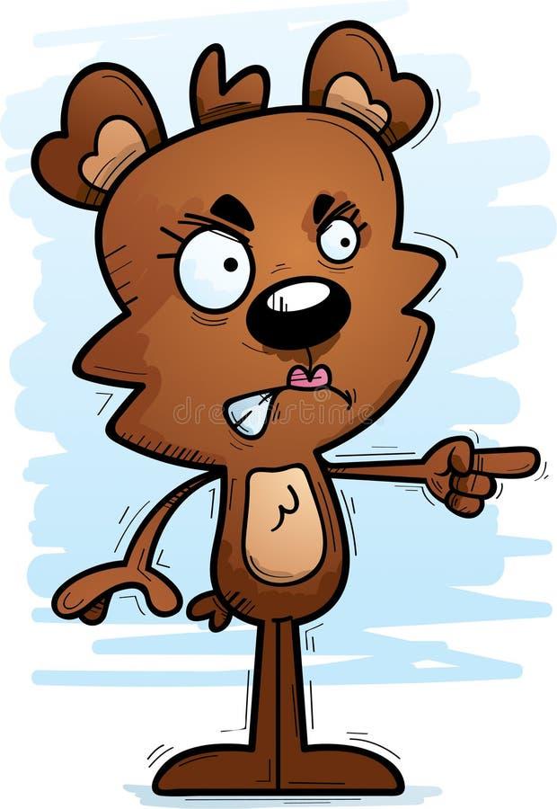 Медведь сердитого шаржа женский бесплатная иллюстрация