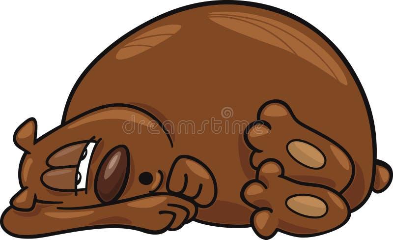 медведь сонный бесплатная иллюстрация