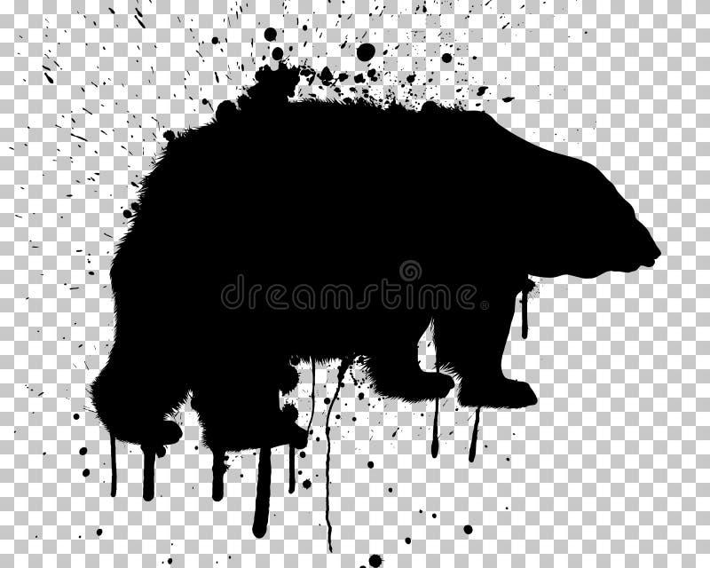 Медведь Grunge иллюстрация вектора