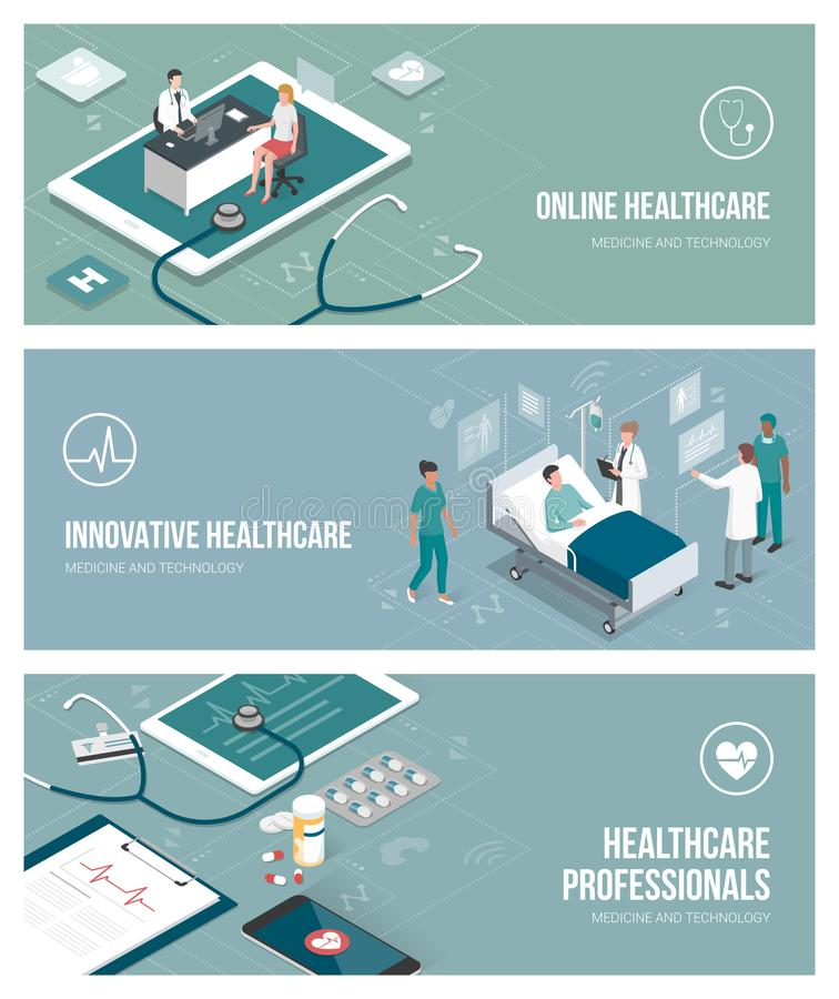 Медицина и здравоохранение иллюстрация штока