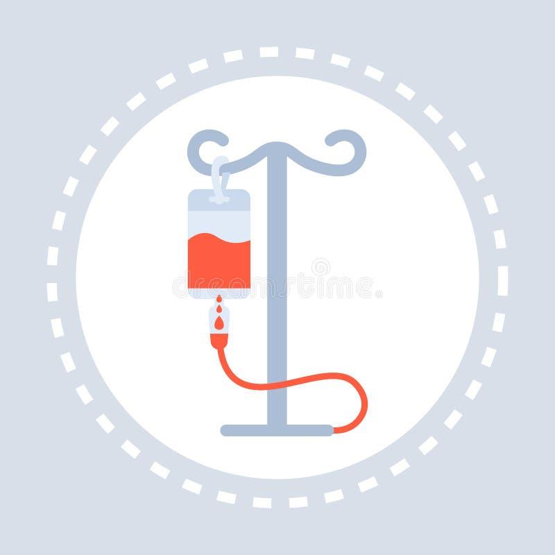 Медицина логотипа медицинского обслуживания здравоохранения значка капельницы и концепция символа здоровья плоско иллюстрация вектора