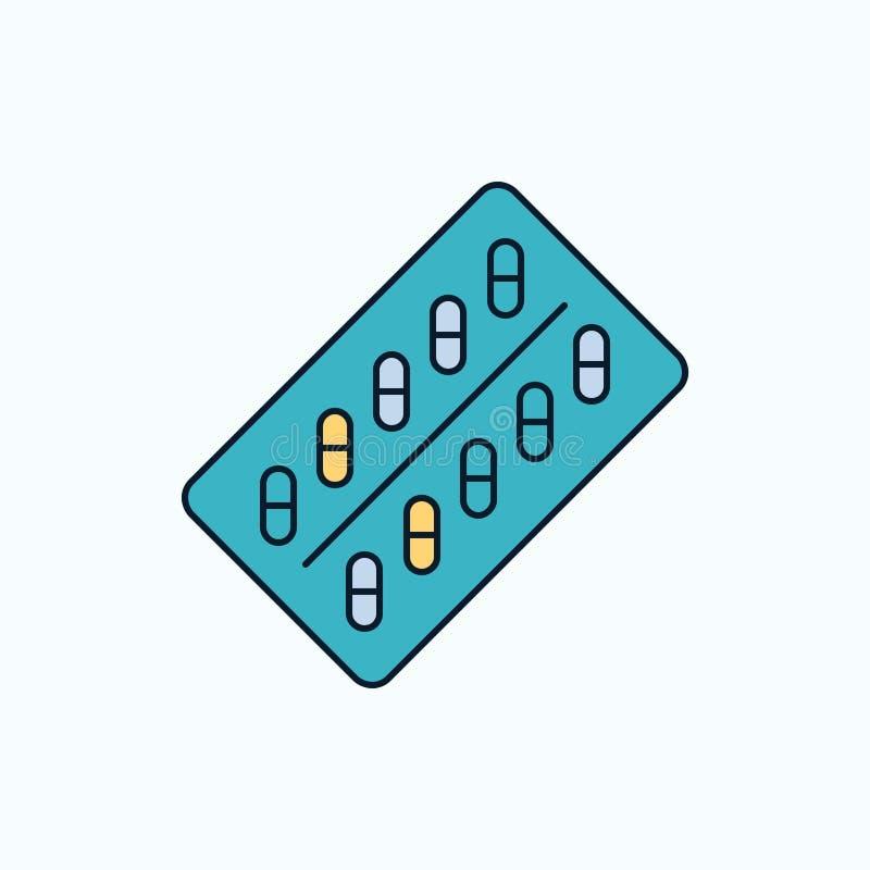 медицина, таблетка, лекарства, планшет, значок пакета плоский r r бесплатная иллюстрация