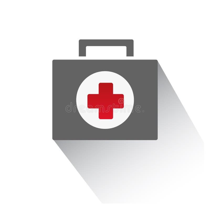 Медицинская иллюстрация вектора значка портфеля бесплатная иллюстрация