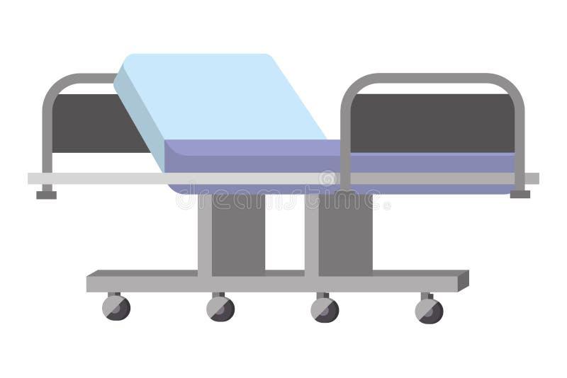 Медицинская каталка больницы иллюстрация вектора
