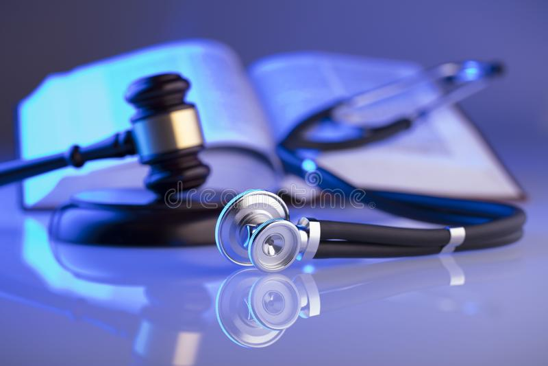 Медицинская концепция закона Место для оформления стоковое фото
