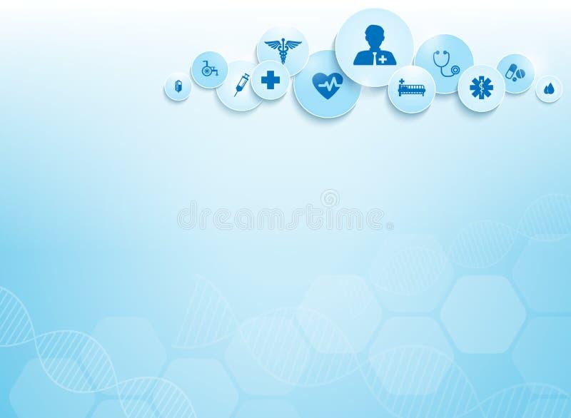 Медицинская предпосылка и значки бесплатная иллюстрация