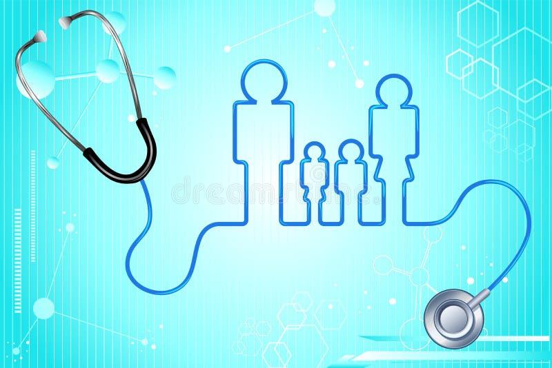 медицинская страховка семьи иллюстрация вектора