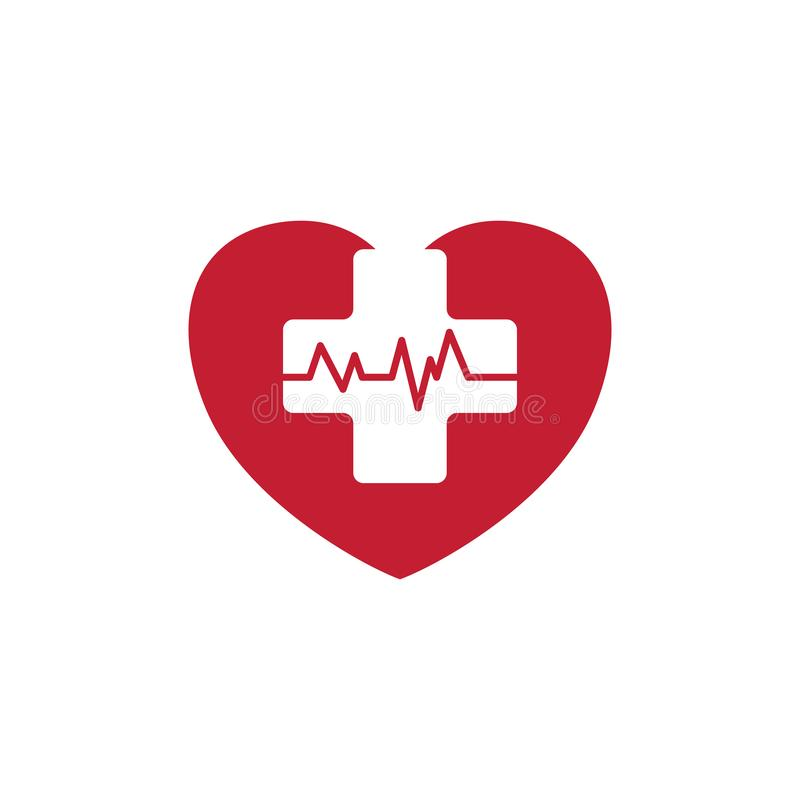 Медицинские перекрестные побили ИМП ульс монитора для медицинских приложений и вебсайтов иллюстрация штока