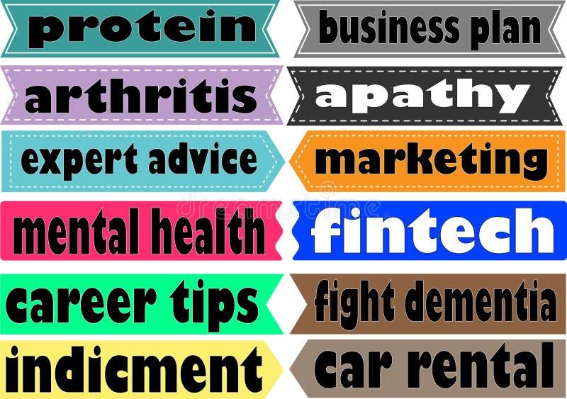 Медицинские термины маркетинга иллюстрации коллажа предпосылки ассоциации различные vector белое слово Иллюстрация с различными у бесплатная иллюстрация