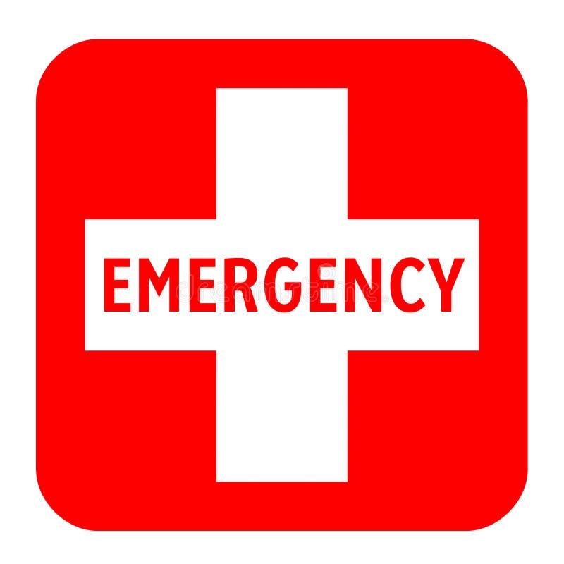 Медицинский белый крест и аварийный символ иллюстрация штока