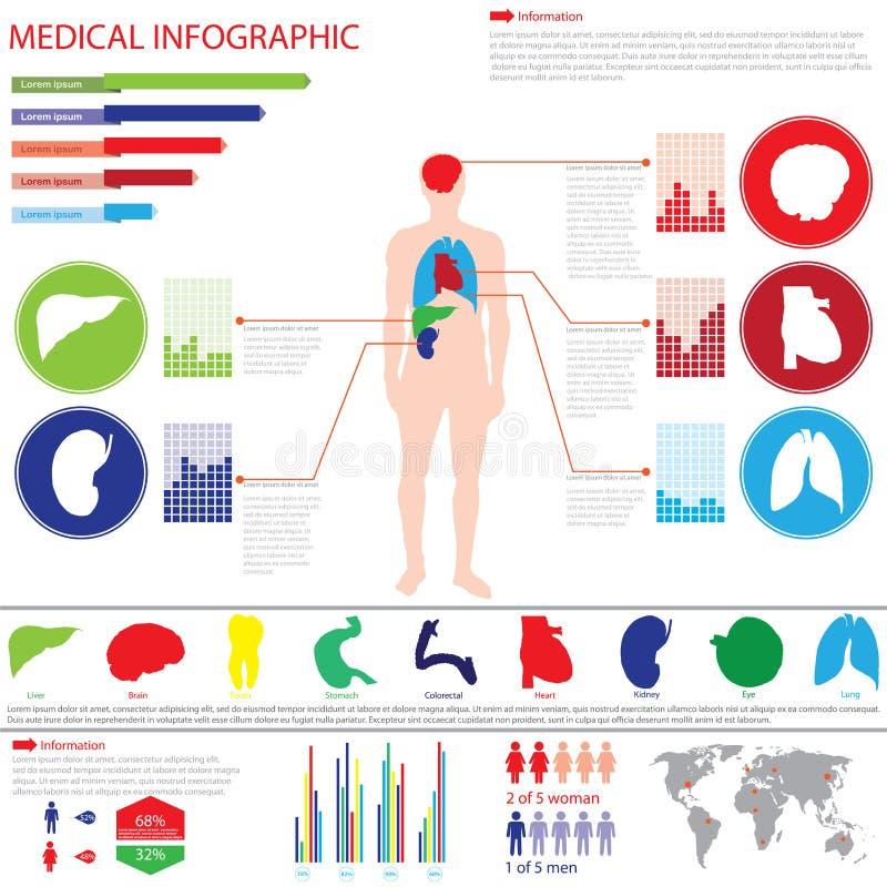 Медицинский график info иллюстрация вектора