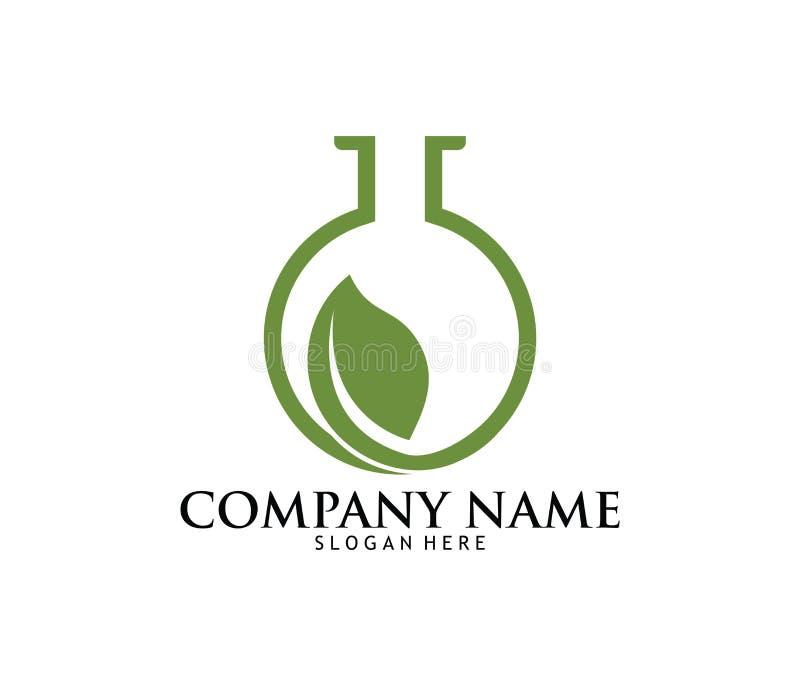 Медицинский дизайн логотипа лаборатории фармации лекарства конопли марихуаны иллюстрация штока