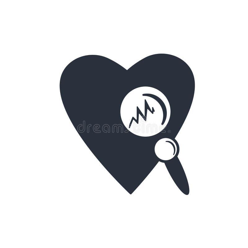 Медицинский знак и символ вектора значка развертки сердца изолированные на белой предпосылке, медицинской концепции логотипа разв иллюстрация штока