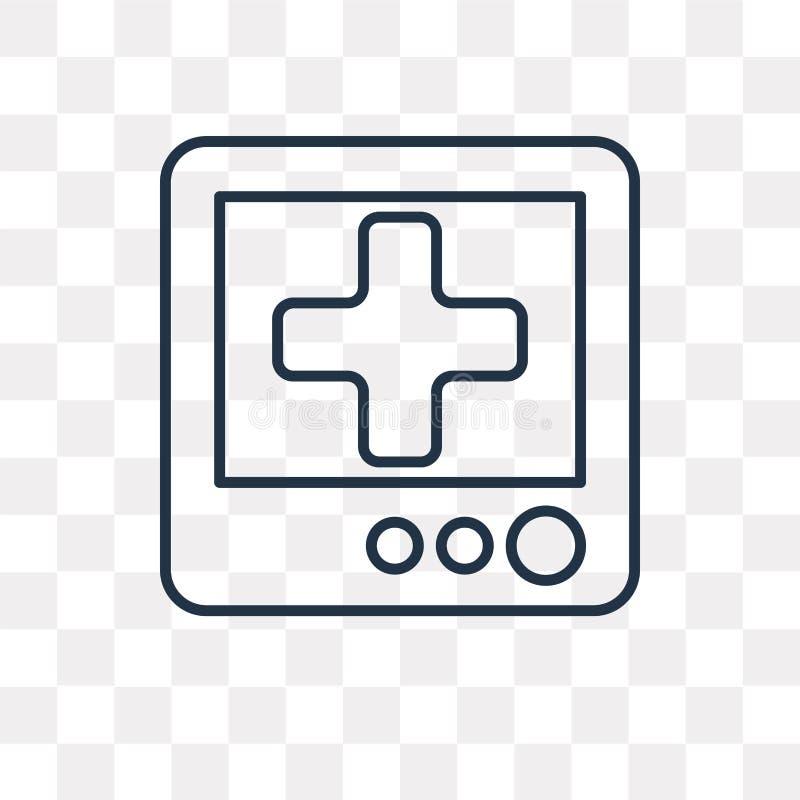 Медицинский значок вектора назначения изолированный на прозрачном backgrou иллюстрация штока