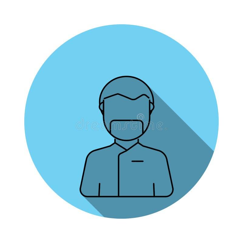 Медицинский значок воплощения доктора хирургии Элементы воплощения в плоско сини покрасили значок Наградной качественный значок г иллюстрация штока