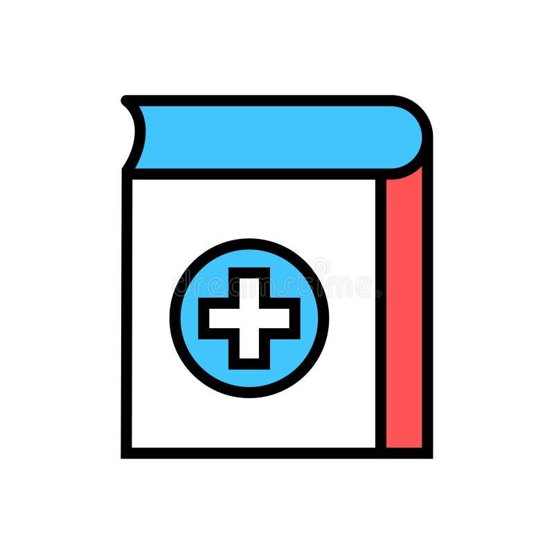 Медицинский значок книги иллюстрация вектора