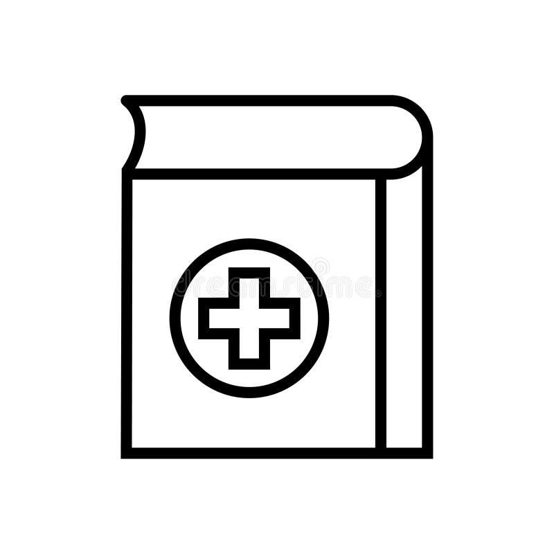 Медицинский значок книги иллюстрация штока