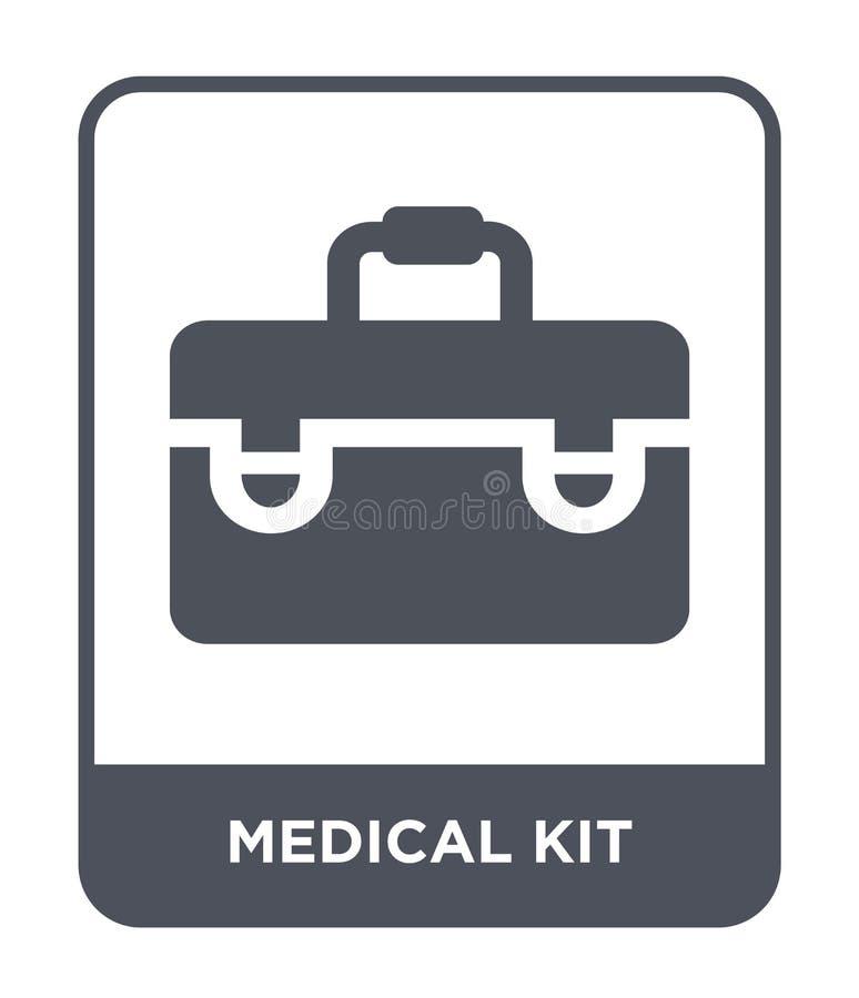 медицинский значок набора в ультрамодном стиле дизайна медицинский значок набора изолированный на белой предпосылке медицинский з иллюстрация вектора