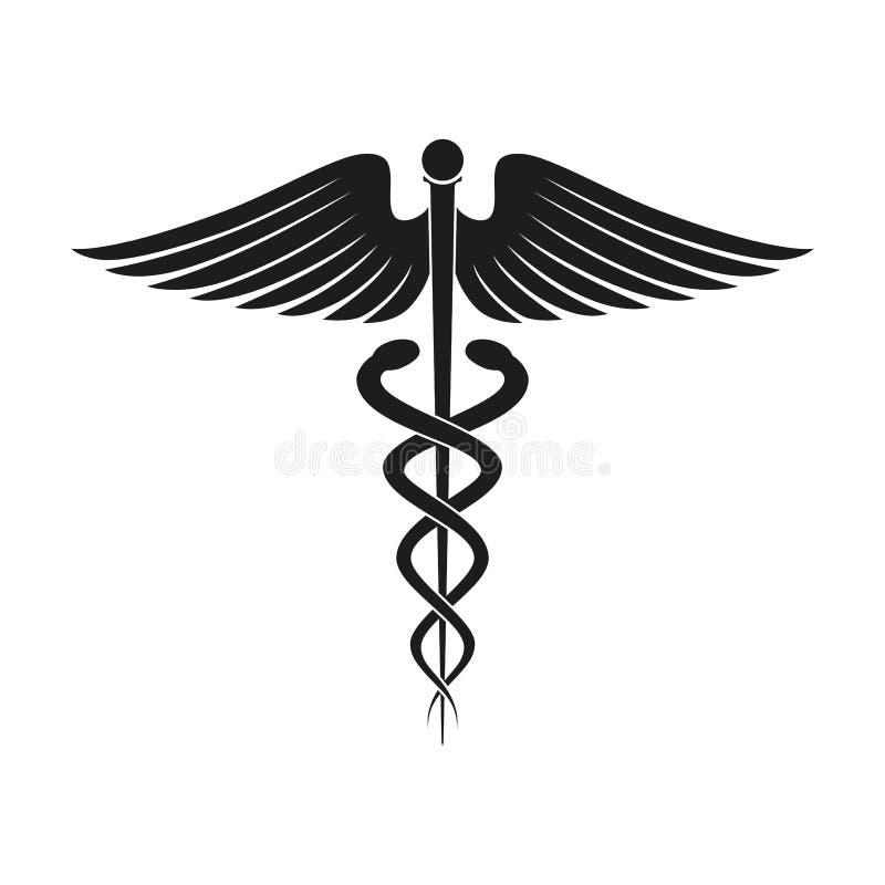 Медицинский значок символа иллюстрация штока