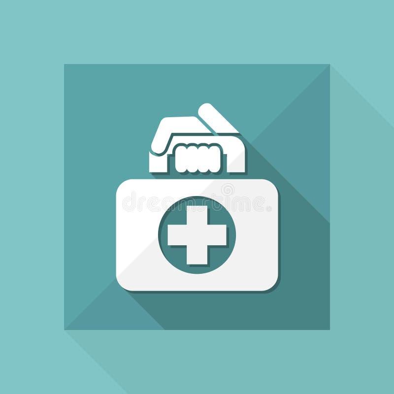 Медицинский значок сумки иллюстрация вектора