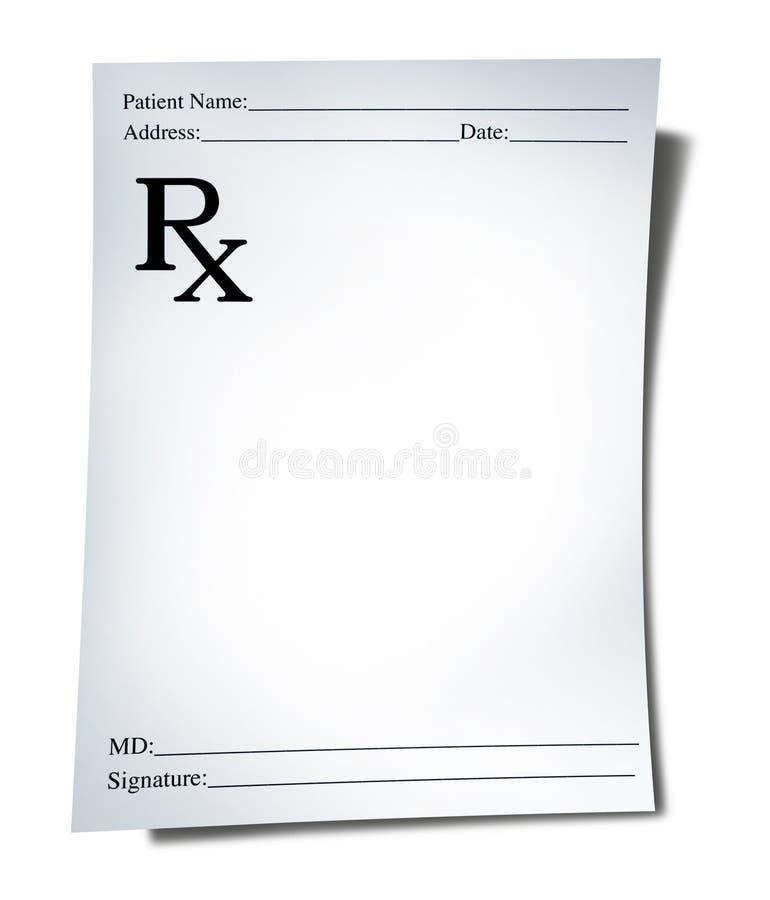 медицинский рецепт бесплатная иллюстрация