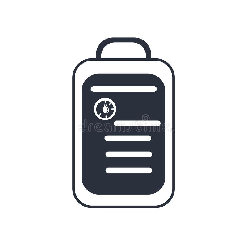 Медицинский символ примечаний бумаги списка на знаке вектора значка доски сзажимом для бумаги и символ изолированной на белой пре иллюстрация штока
